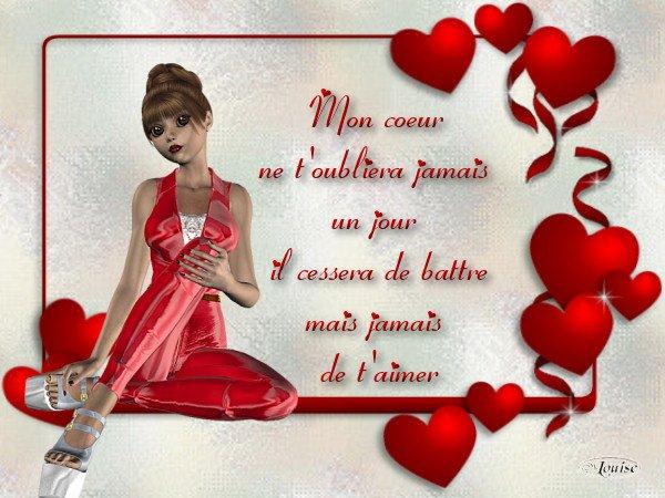 La rose rouge citations d amour - Un coeur amoureux ...